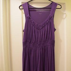 Calvin Klein jean mid-length casual purple dress